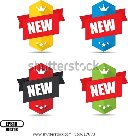 New  label and sign - Vector illustration - stock vector