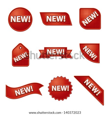 new label and sticker set - stock vector