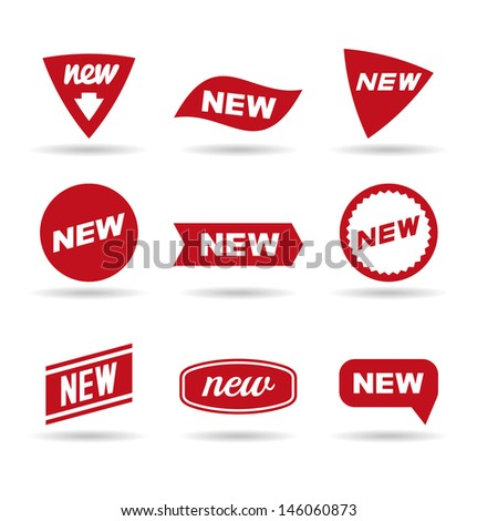 New labels (1). - stock vector