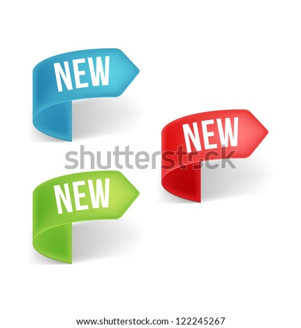 New labels. Vector. - stock vector