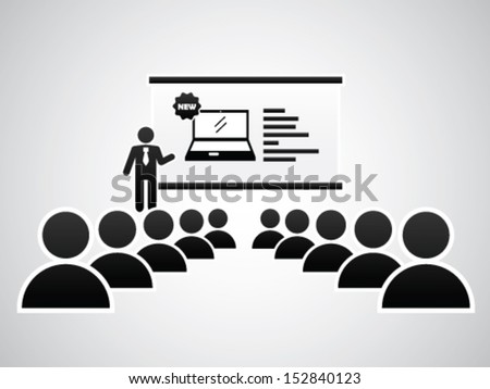 New Laptop Presentation - stock vector