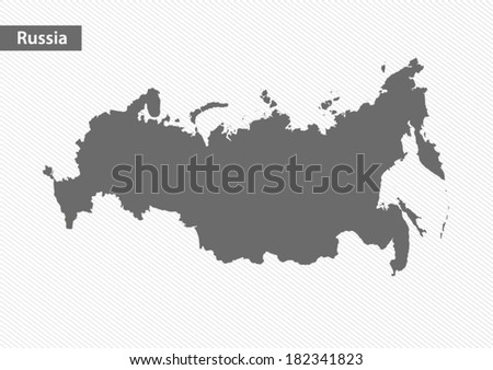 New map of Russia - stock vector