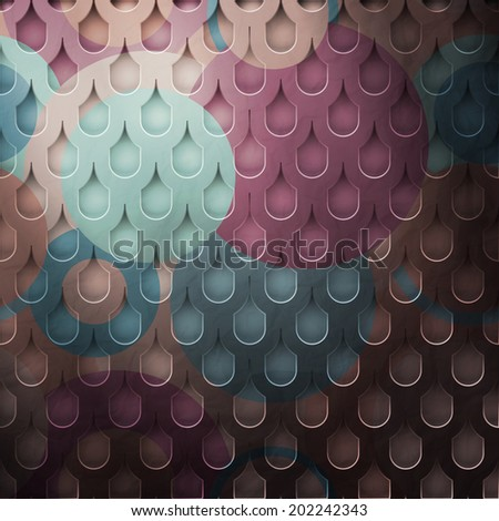 new metal grid with tiled cells and colored surface - stock vector