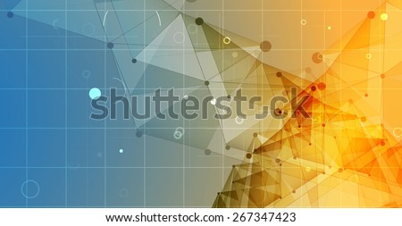 New Model Technology Business Background - stock vector