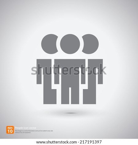 New people icon with shadow vector symbol design - stock vector