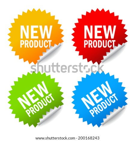 New product sticker - stock vector