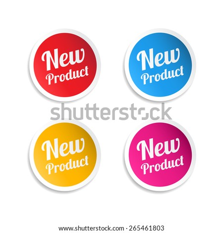 New Product Stickers - stock vector