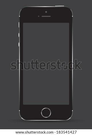 New realistic mobile phone smartphone mockup with blank screen. Can use for object website and printing element. - stock vector
