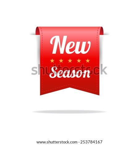 New Season Red Label - stock vector