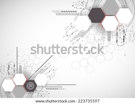 New technology business background - stock vector