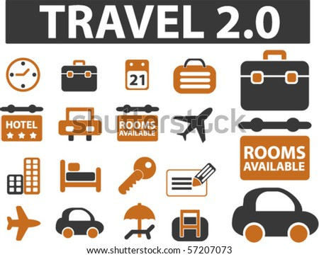 new travel signs. vector - stock vector