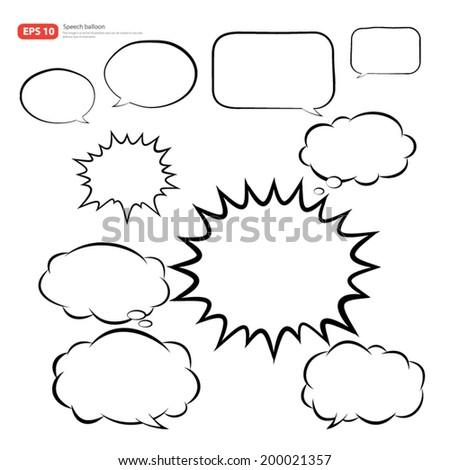 New vector speech balloon icon - stock vector