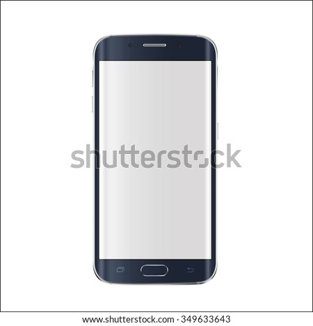 New version of modern smartphone with blank white screen.  Vector eps 10  - stock vector