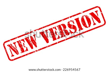 New version red stamp text on white - stock vector