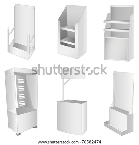 New 6 white display. Vector illustration - stock vector