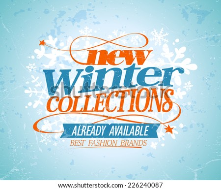 New winter collections design. Eps10 - stock vector