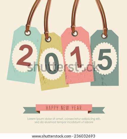New Year 2015 background - stock vector