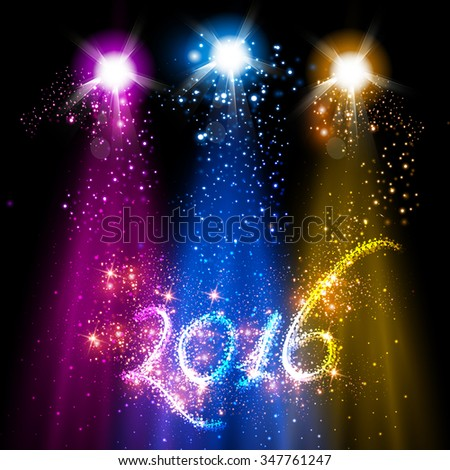 New Year 2016 background - stock vector
