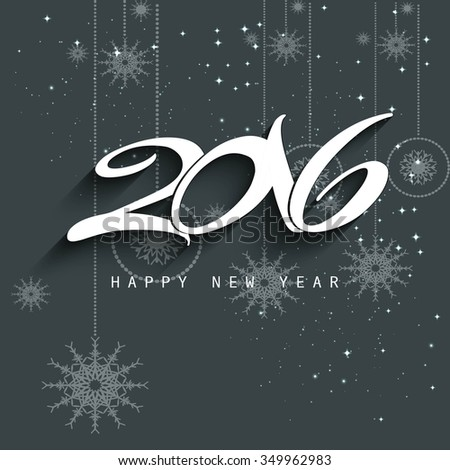 New year 2016 background in gray color - stock vector