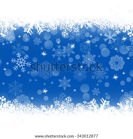 new year background with snowflake - stock vector