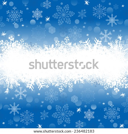 new year background with snowflake, vector version - stock vector