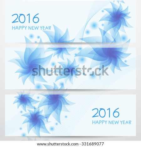 New Year Banner Set  vector design - stock vector