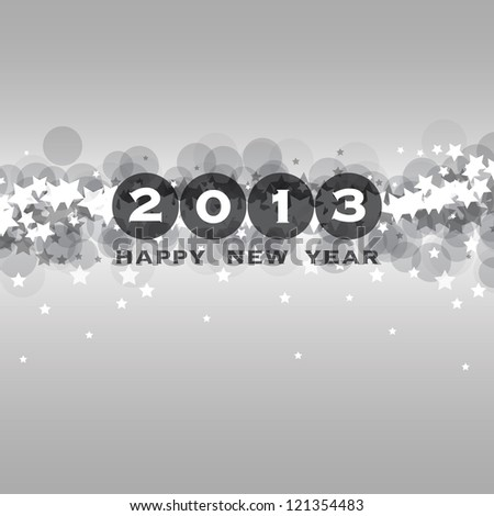 New Year Card, Cover or Background Template - stock vector