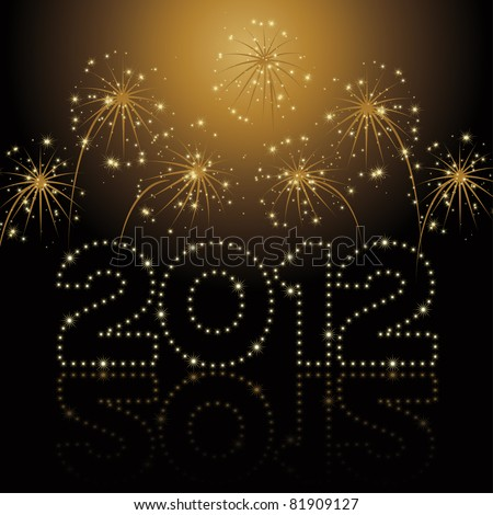 New Year / Christmas card 2012 - stock vector
