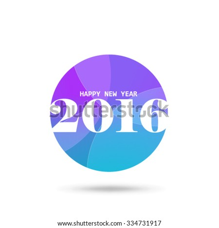 New Year 2016 Design Background - stock vector