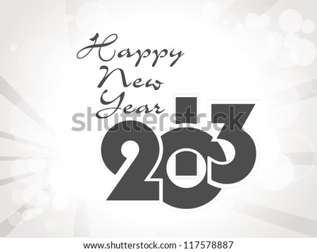 new year 2013 design/ greeting card, vector eps10 - stock vector