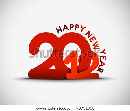 New year 2012  design. Vector illustration - stock vector