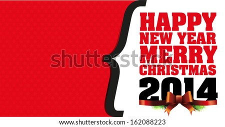 New year greeting card background - stock vector