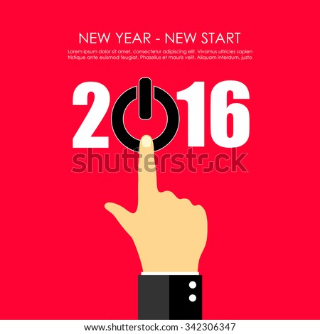 New year greeting card design - stock vector