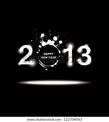 New year 2013 in white background. - stock vector