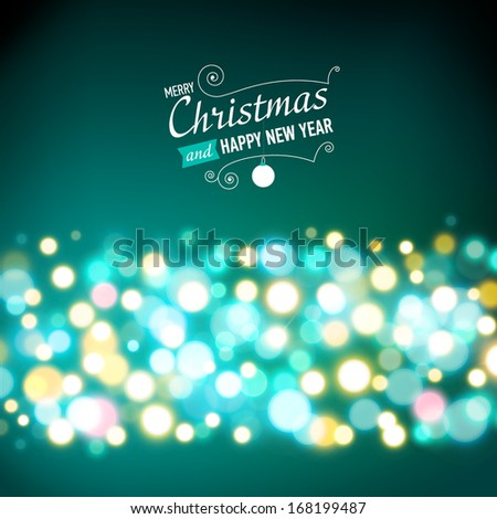 New year lights background. Vector illustration - stock vector