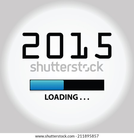 New year 2015 loading background,happy new year - stock vector