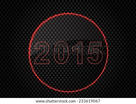 New Year 2015 on metal background. Vector Design.  - stock vector
