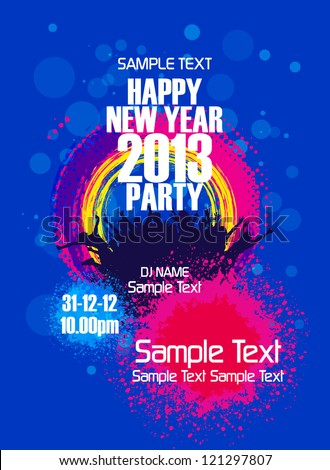 New Year Party backgrounds design - stock vector