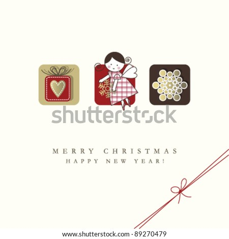 New year's card with copy space - stock vector