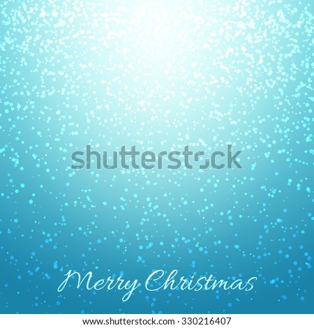 New Year's color shining background with a Christmas inscription. 2016 year. A background for cards. Blured background. Lighting effects. Bright Christmas background. Festive background - stock vector