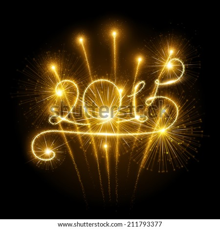 New Year's fireworks - stock vector