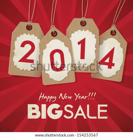New Year Sale - stock vector