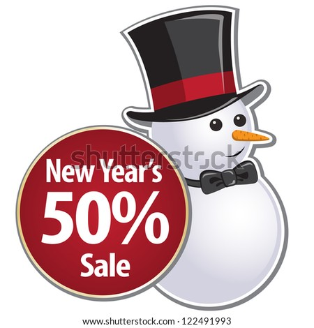 New Year Theme. Holiday's merchandising coupon on white Background. Grouped for easy editing. Perfect for invitations or announcements. - stock vector