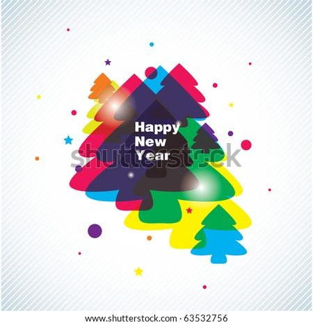 new year vector background - stock vector