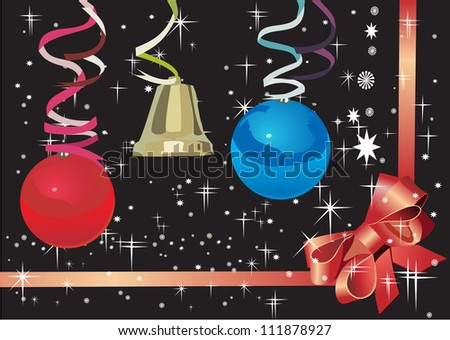New Years card 2013 - stock vector