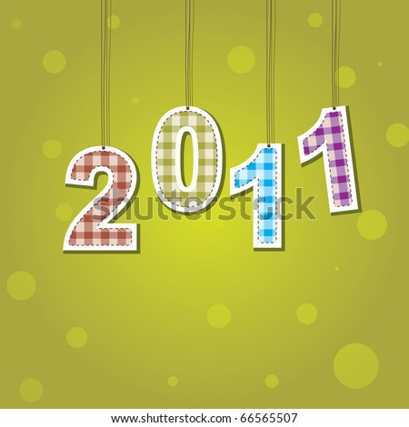 New Years card 2011 with color light and place for your text  . Vector illustration - stock vector