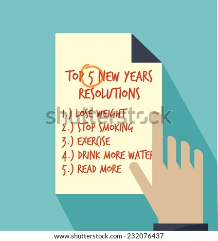 New years resolution - stock vector