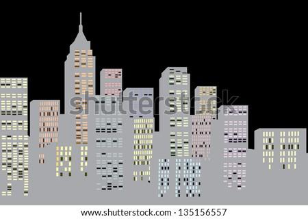 New York city - stock vector