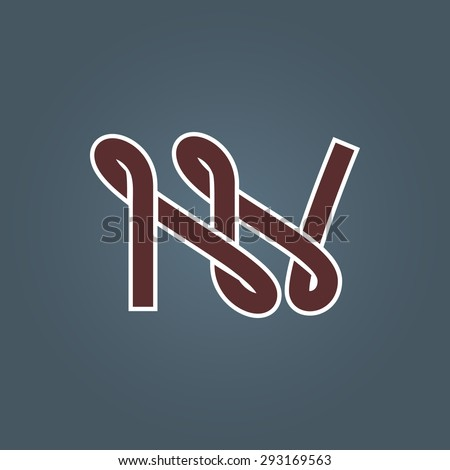 New York City conceptual lettering. N and Y logo template or monogram. - stock vector