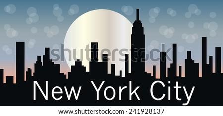 New York City header or banner for website - stock vector